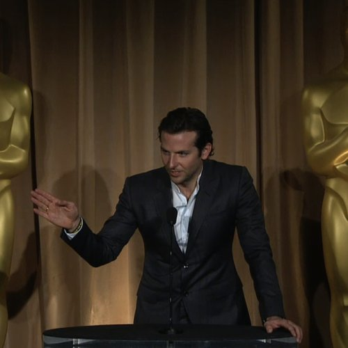 Bradley Cooper at Oscars Luncheon (Video)
