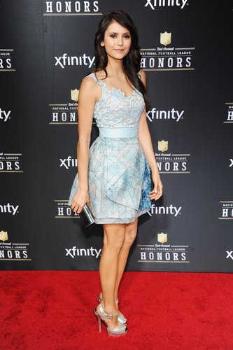 Nina Dobrev attended the 2nd Annual NFL Honors ceremony in New Orleans Saturday.