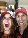 Katharine McPhee hoped that the 49ers would make a comeback during the New Orleans Super Bowl in January 2013. Source: Twitter user katharinemcphee