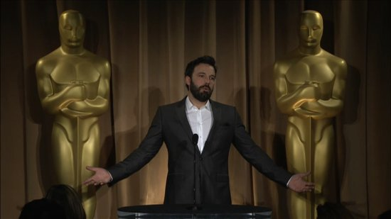 "Video: Ben Affleck Says He's ""Honored to Be Nominated as a Producer"" at the Oscars Luncheon"
