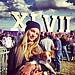 Candice Swanepoel brought a dog to the Super Bowl.