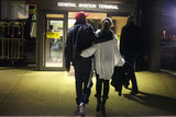 Jay Z and Beyoncé held onto each other as they headed to the airport in 2012. Source: Tumblr user Beyoncé
