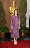 Amy Adams attended the Oscars luncheon in a long floral ensemble.