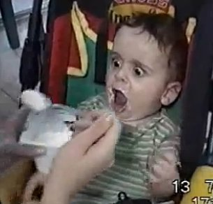 Baby SO Excited for Yogurt (VIDEO)