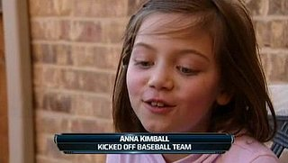 7-Year-Old Kicked off Baseball Team for Being a Girl