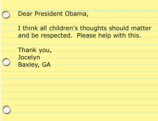 Kids&#039; Advice for President Obama