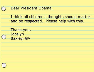 Kids' Advice for President Obama