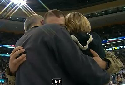 Soldier's Surprise Homecoming Brings Hockey Stadium To Tears