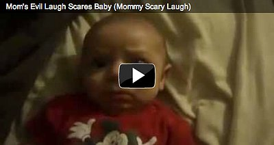 Baby Scared of Mom's Evil Laugh