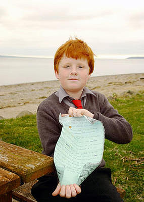 9-Year-Old Boy Finds Message in a Bottle