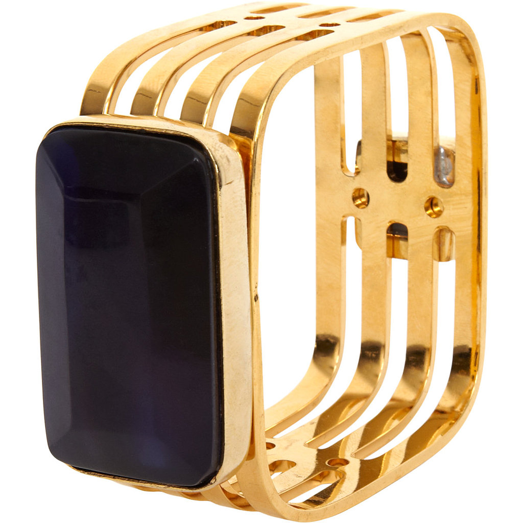 Style Marni's ink square deco bangle ($199, originally $520) over a long, sleek black turtleneck for a high-contrast layered look.