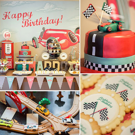 A Vintage Race Car Birthday Party