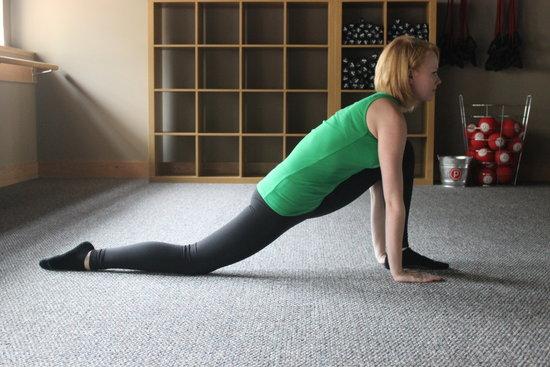 Thigh stretch