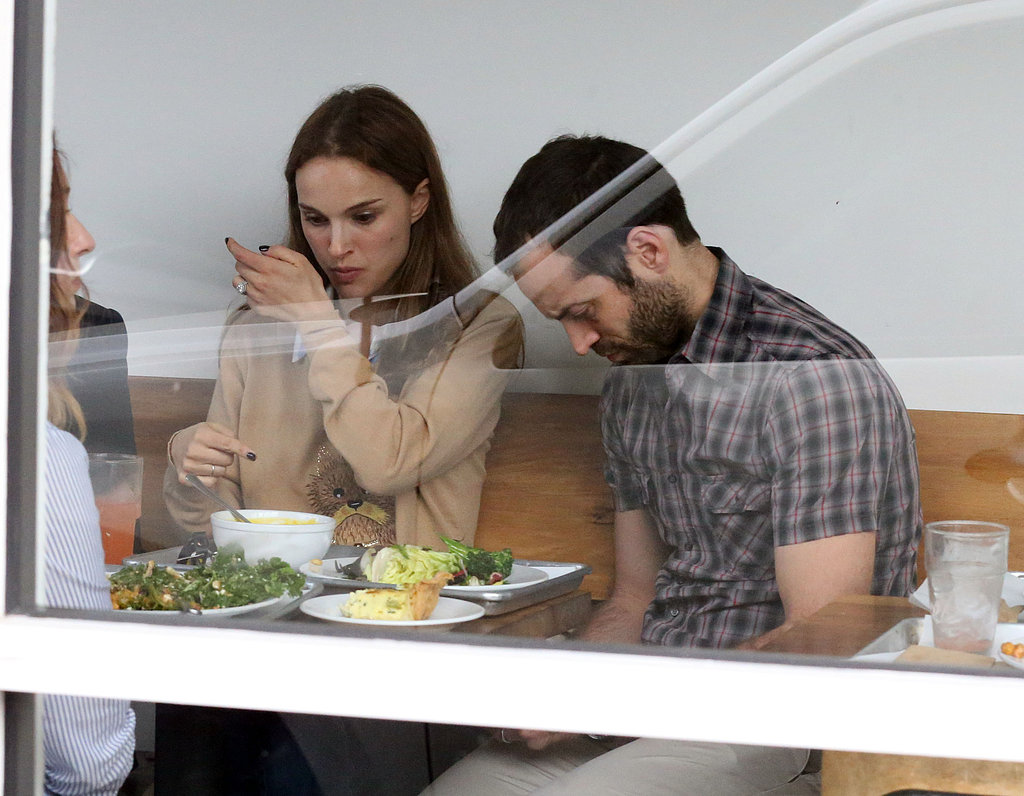 Natalie Portman and Benjamin Millepied grabbed lunch.