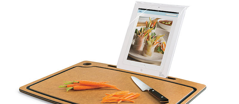 Cutting Board With iPad Stand