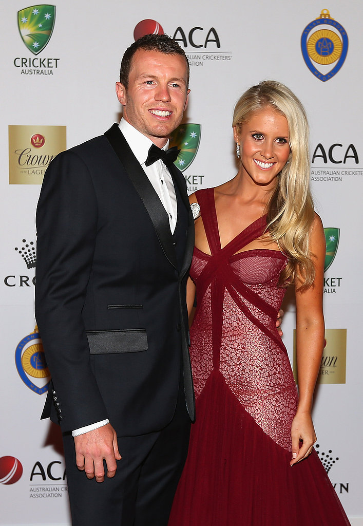Peter Siddle and Anna Weatherlake