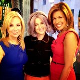 Kelly Osbourne posed with Kathie Lee Gifford and Hoda Kotb on the Today show set. Source: Twitter user MissKellyO