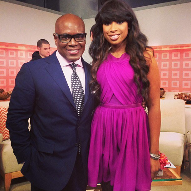 Jennifer Hudson posed with LA Reid. Source: Twitter user IAMJHUD