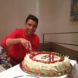 Cristiano Ronaldo celebrated his 28th birthday. Source: Twitter user Cristiano