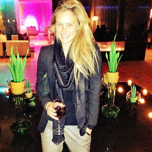 Bar Refaeli enjoyed a glass of wine. Source: Instagram user barrefaeli