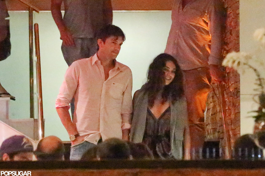 Ashton Kutcher and Mila Kunis spent New Year's 2013 in Brazil together.