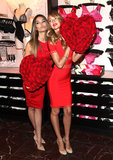 Lily Aldridge and Candice Swanepoel Prep For Valentine's Day With Victoria's Secret