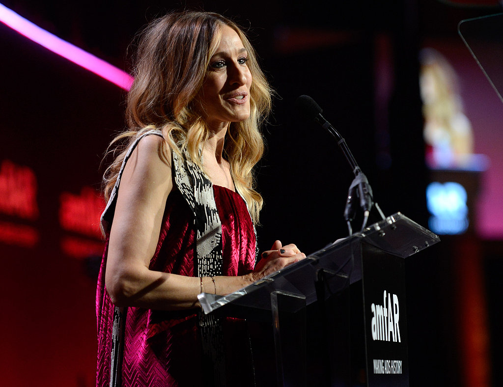 Sarah Jessica Parker spoke on stage.