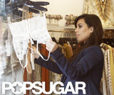 Kim Kardashian shopped for lingerie in LA.
