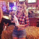Lauren Conrad celebrated her birthday with a Western-themed party (and Daisy Dukes!). Source: Twitter user LaurenConrad