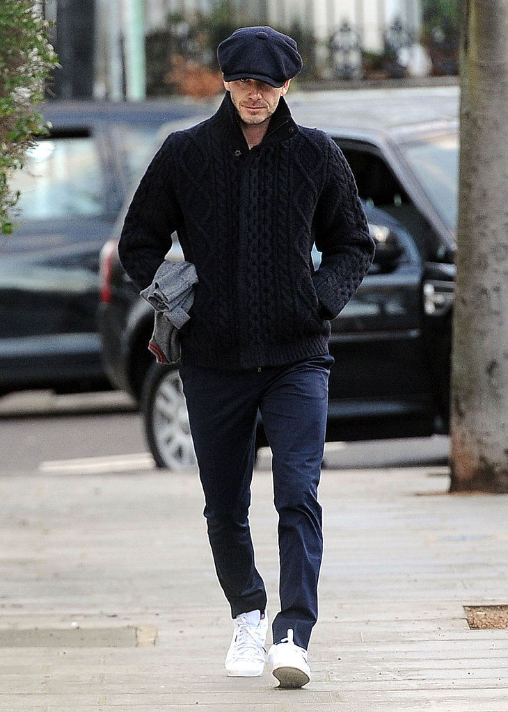 David Beckham Pops Up in London While Posh Preps For NYFW