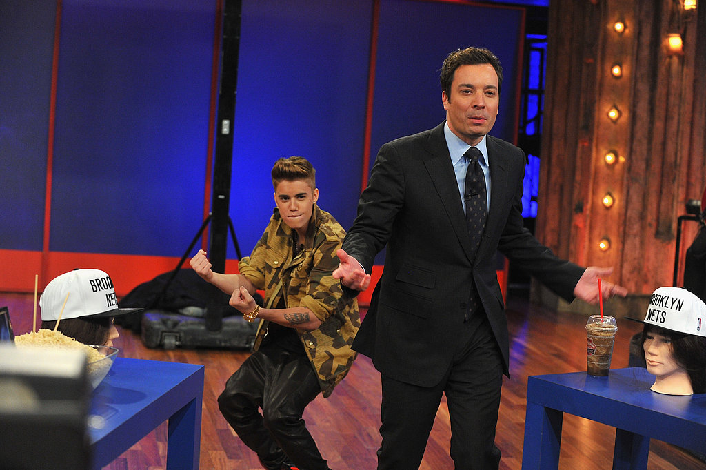 Justin Bieber had fun during his appearance on Late Night With Jimmy Fallon.