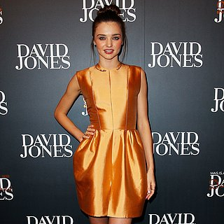 Miranda Kerr Wearing Bronze Dress at David Jones Runway Show