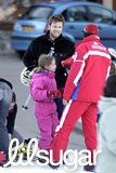 Ewan McGregor took his daughters skiing in Courchevel, France, in February 2004.