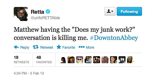 Retta is a fellow Downton Abbey fan.