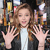 Chloe Moretz's Fabric and Pastel Nails
