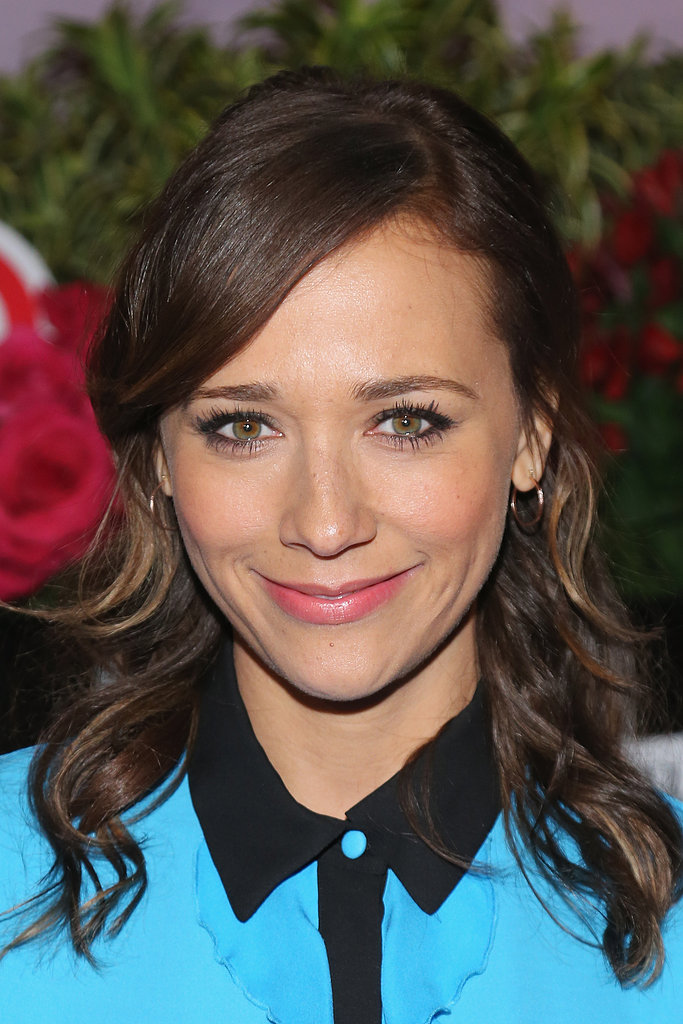 Rashida Jones wore a blue shirt to the NYC event.