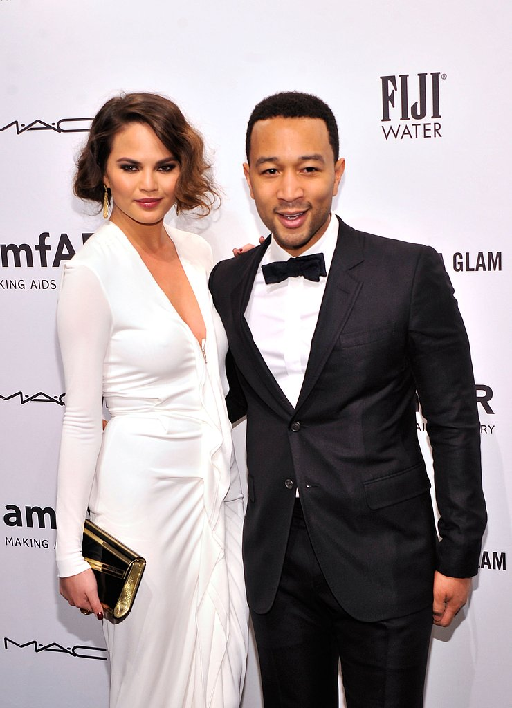 Christine Teigen and John Legend stayed close at the NYC gala.