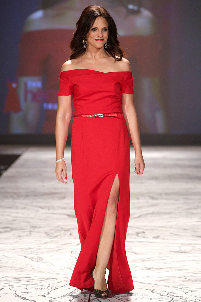 Soledad O'Brien showed off a little leg on the runway.