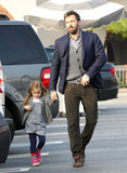 Ben Affleck walked with Seraphina in Brentwood.