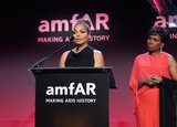 Janet Jackson presented an award at the amfAR New York Gala in February for Fashion Week.