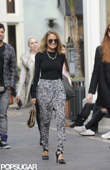 Nicole Richie walked through The Grove in LA on Thursday.