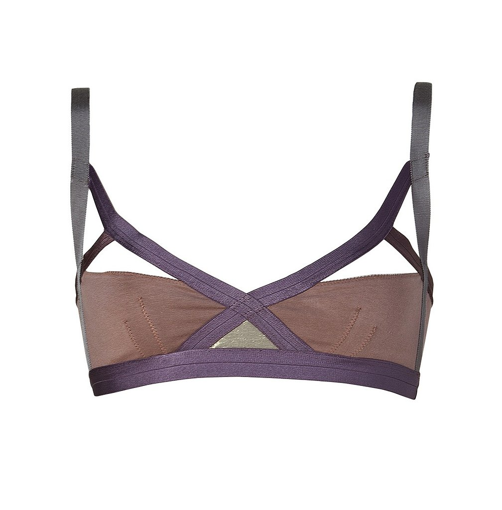 This VPL taupe multi-insertion N bra ($120) is the kind of fashion-forward piece that can totally double as underwear and outerwear. Plus, it's all kinds of sporty-meets-sexy.