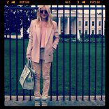 Dakota Fanning posed in front of the White House. Source: Instagram user fanningdakota
