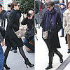 Anne Hathaway Carrying Snakeskin Bag