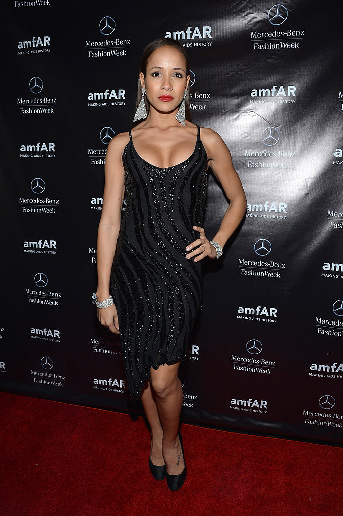 Dania Ramirez opted for all black at the amfAR afterparty.