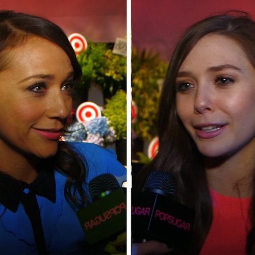 Rashida Jones and Elizabeth Olsen at the Prabal Target Party