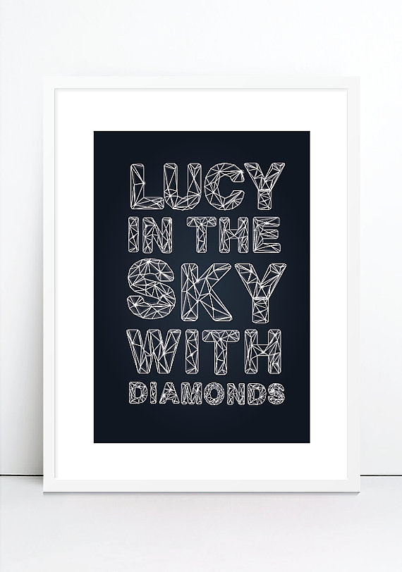 Fans of The Beatles will love this contemporary lyric poster ($18) that will pop against a bright accent wall.