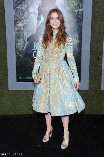 Alice Englert in Elie Saab at Beautiful Creatures Premiere