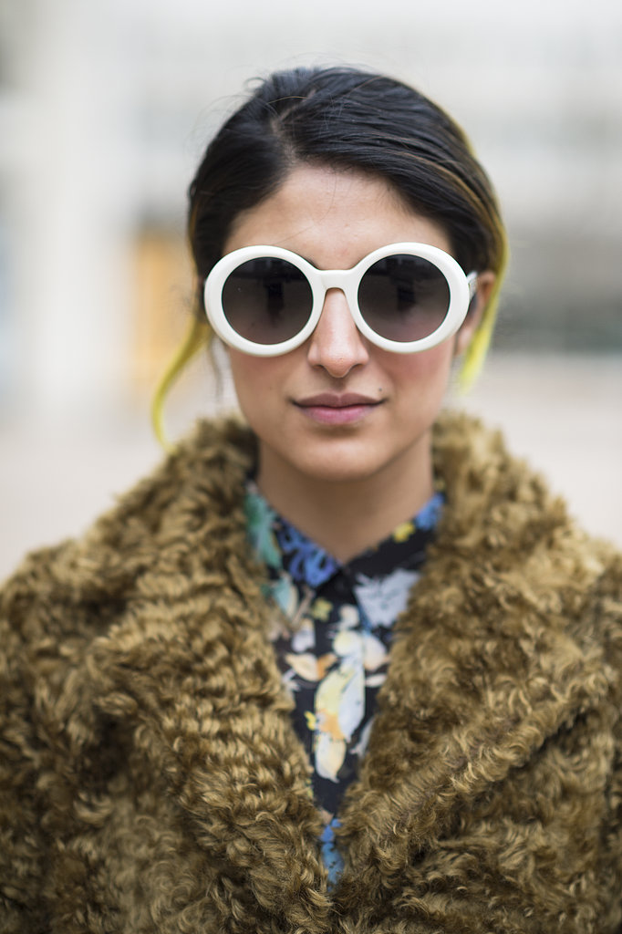 When you've got electric yellow strands in your hair, it could be hard to figure out your makeup look. But a toned-down palette, like Preetma Singh showed off, is the perfect pairing. Source: Le 21ème | Adam Katz Sinding