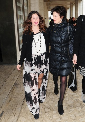 Drew Barrymore made an appearance at Lincoln Center for New York Fashion Week in February.